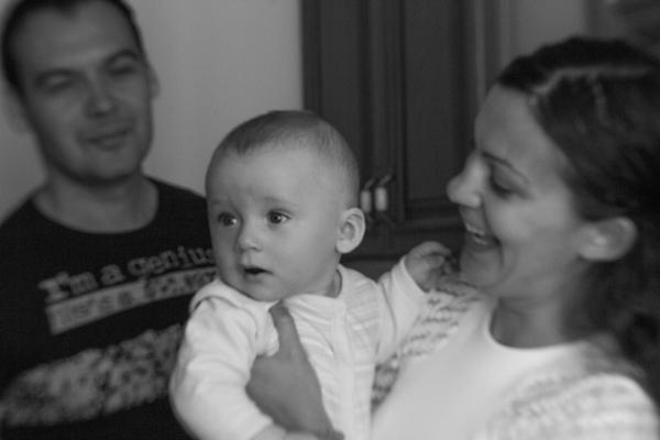 Федор, Ксения и их сын Миша