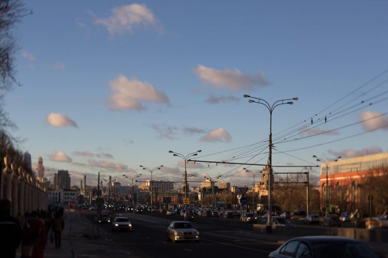 небо у парка Горького