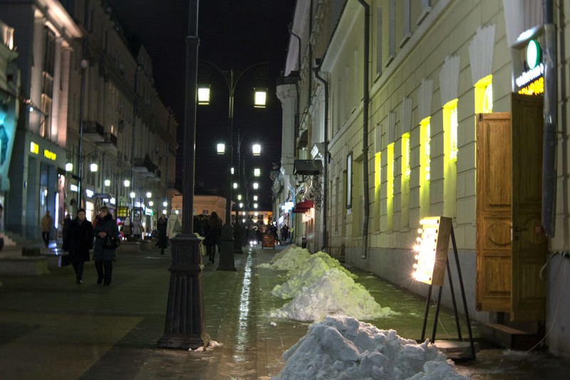 сугробы на улице